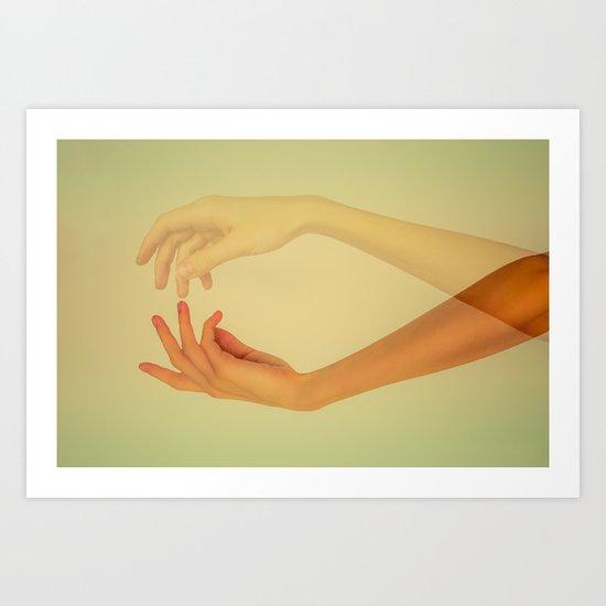 Finger tips Art Print