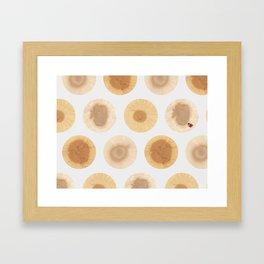 MimeticMaps2: Dots of Tree rings that mimic maps Framed Art Print
