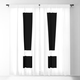 Exclamation Mark (Black & White) Blackout Curtain