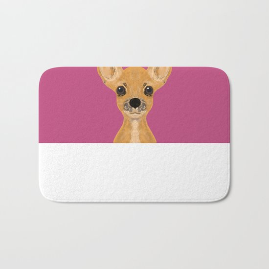 Lulu - chihuahua, cute pet cute dog cell phone case, gift for dog people Bath Mat
