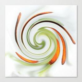 Lily stamen twirled Canvas Print