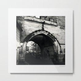 Archway Off Charles Bridge Metal Print