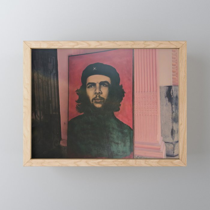 Che Guevara In A Havana Doorway Framed Mini Art Print