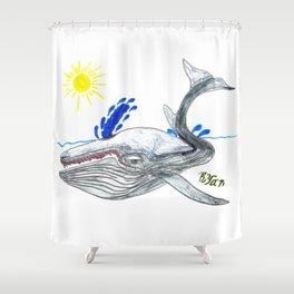 Fin Whale Shower Curtain