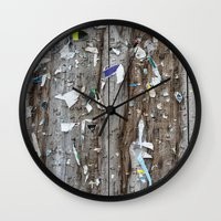 movie posters Wall Clocks featuring Posters by jmdphoto