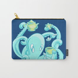 Squiggles: The perfect coffee (dark blue) Carry-All Pouch