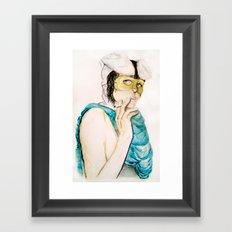 Smoking bunny Framed Art Print