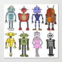 robots Canvas Prints featuring Robots by Annabelle Scott