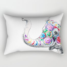 Festival Baby Elephant Rectangular Pillow