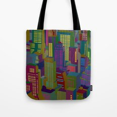 Cityscape night Tote Bag