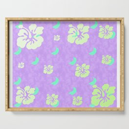 Tropical Pattern Purple Serving Tray
