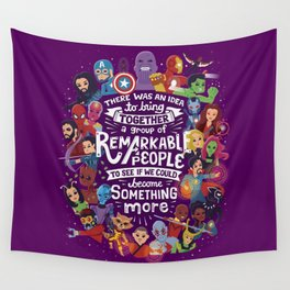 Remarkable People Wall Tapestry