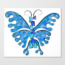 Icelonius - blue ice butterfly Canvas Print