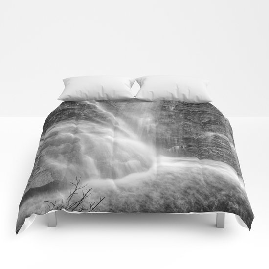 Mountains water. Monochrome. Comforters