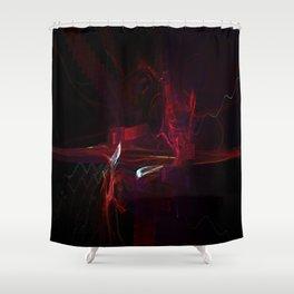 Redrum 8 Shower Curtain