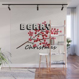 Happy berry christmas I Wall Mural