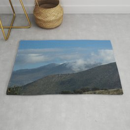 Hills and Clouds Countryside Landscape Rug