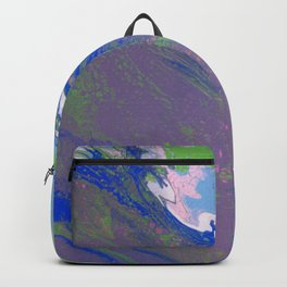 Dirty Acrylic Pour Painting 9, Fluid Art Reproduction Abstract Artwork Backpack