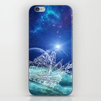 neverland iPhone & iPod Skins featuring To Neverland by Cat Milchard