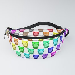 Rainbow Owl Pattern Fanny Pack