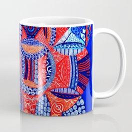 Blue & Orange Cluster of Energy Orbs Coffee Mug