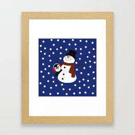 Cute Penguin Snowman Holiday Design Framed Art Print