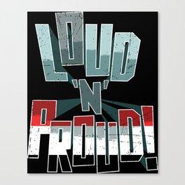Yemen Pride Loud N Proud Canvas Print