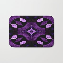 Stained Glass Collection III Passionate Purple Bath Mat