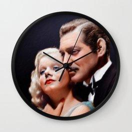 Clark Gable and Jean Harlow Wall Clock