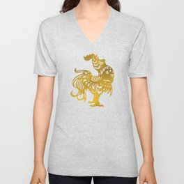 Golden Rooster - Year of the Rooster 2017 Unisex V-Neck