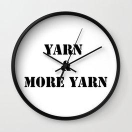 Yarn & More Yarn in Black Wall Clock