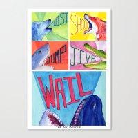 Twist! Shout! Jump! Jive! WAIL! Canvas Print