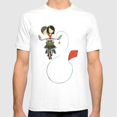 Love on a Bike Mens Fitted Tee White LARGE