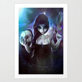 2014 Horror Girl Art Print