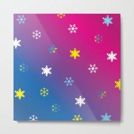 Snowflakes_D Metal Print