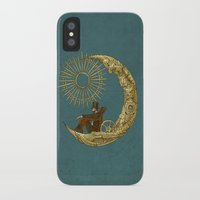 michael jackson iPhone & iPod Cases featuring Moon Travel by Eric Fan