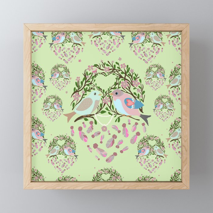 Love is in the air Spring Birds 06 Framed Mini Art Print