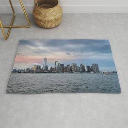 Skyline  of New York City at sunset Rug