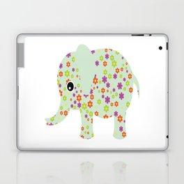 cute floral elephant Laptop & iPad Skin