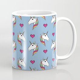 Rainbow Unicorn Head Pattern Coffee Mug