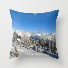 Courchevel 3 Valleys French Alps France Throw Pillow