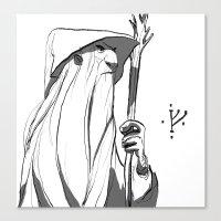 gandalf Canvas Prints featuring Gandalf by 4nima