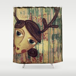 Coco's Closet- She Lives Inspired Shower Curtain