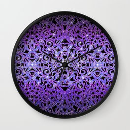 Floral abstract background G103 Wall Clock
