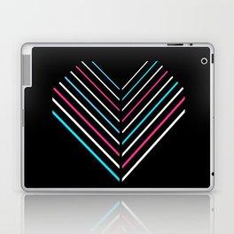 Transcend Neon Heart Laptop & iPad Skin