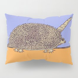 COLOR TartUnicoRiccio: Unicorno Riccio Tartaruga Pillow Sham