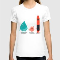 water color T-shirts featuring Water + color by Coconutman
