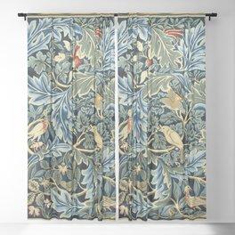 """William Morris """"Birds and Acanthus"""" Sheer Curtain"""