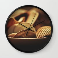 shells Wall Clocks featuring Shells by BURNEDINTOMYHE∆RT♥