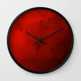 Royal Watercolor Valentine Red Background Wall Clock